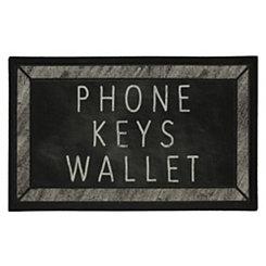 Phone Keys Wallet Doormat