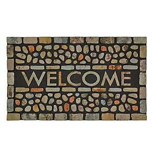 Pebble Brook Light Welcome Doormat