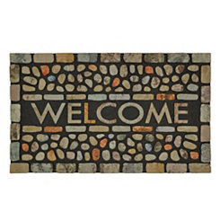 Pebble Brook Light Welcome Doormat
