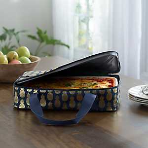 Blue Pineapple Casserole Tote