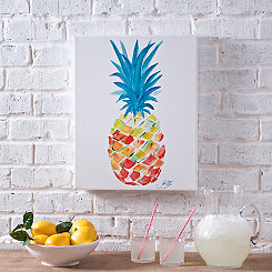Vibrant Pineapple Outdoor Canvas Art Print