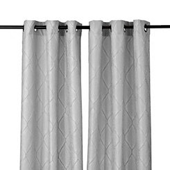 Gray Memphis Curtain Panel Set, 84 in.