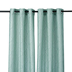Aqua Memphis Curtain Panel Set, 84 in.