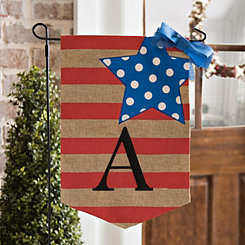 Stars and Stripes Monogram A Flag Set