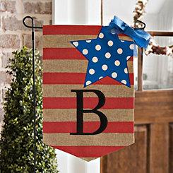 Stars and Stripes Monogram B Flag Set