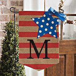 Stars and Stripes Monogram M Flag Set
