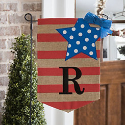 Stars and Stripes Monogram R Flag Set