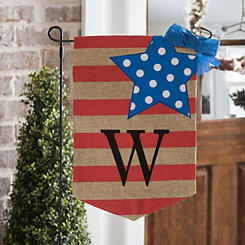 Stars and Stripes Monogram W Flag Set