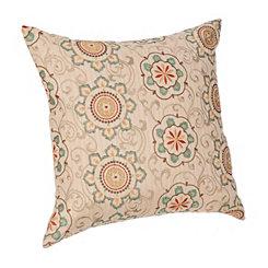 Blue Floral Medallion Pillow