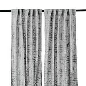 Embossed Gray Gate Curtain Panel Set, 84 in.