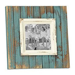 Distressed Aqua Picture Frame, 5x5