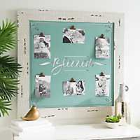 Blessed Turquoise 6-Clip Collage Frame