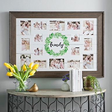 family wreath shiplap collage frame
