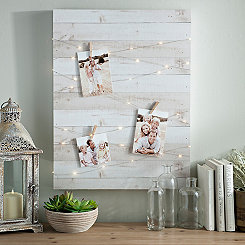 Wood Block Pre-Lit Clip Collage Frame