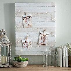Wood Block Pre-Lit Clip Collage Frame