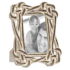 Natural Charm White Wood Knot Picture Frame, 5x7