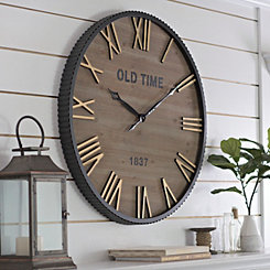 Drake Industrial Wall Clock