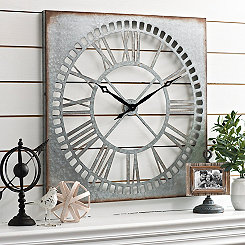 Gaines Galvanized Cut-Out Wall Clock