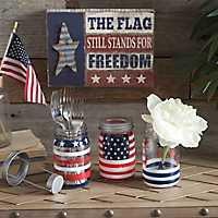 Patriotic Mason Jar, Set of 3