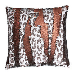 Cenny Cheetah Reversible Sequin Pillow