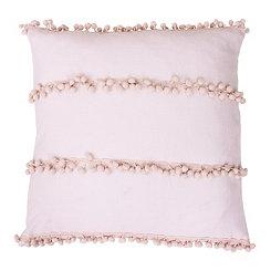 Pink Velvet Pom Pillow