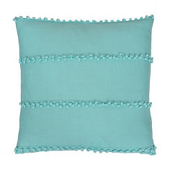 Blue Velvet Pom Pillow
