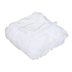 Bright White Faux Fur Throw Blanket