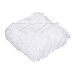 Bright White Faux Fur Throw Blanket