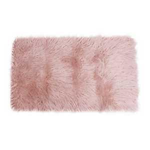 Pink Keller Faux Fur Scatter Rug