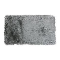 Silver Keller Faux Fur Scatter Rug