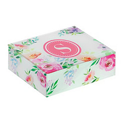 Floral Monogram S Jewelry Box