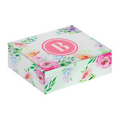 Floral Monogram B Jewelry Box