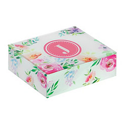 Floral Monogram J Jewelry Box