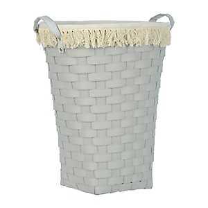 Light Gray Woven Laundry Basket