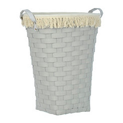 Light Gray Woven Laundry Basket