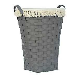Dark Gray Woven Laundry Basket