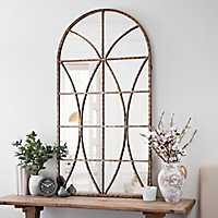 Ella Windowpane Arch Mirror
