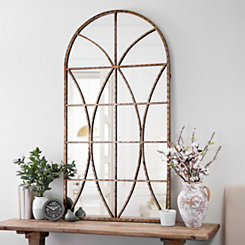 Ella Windowpane Arch Mirror