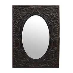 Callie Embossed Metal Mirror