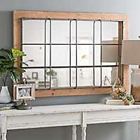 Emmie Raw Wood and Metal Mirror