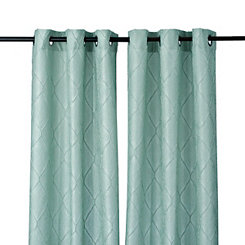 Aqua Memphis Curtain Panel Set, 108 in.