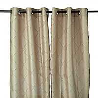 Tan Memphis Curtain Panel Set, 84 in.