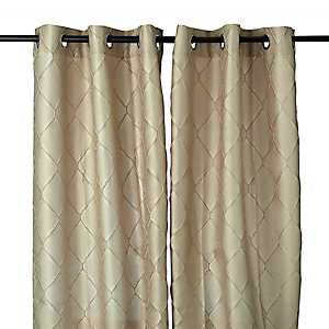 Tan Memphis Curtain Panel Set, 96 in.