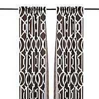 Century Chocolate 6-pc. Curtain Panel Set, 84 in.