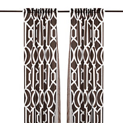 Century Chocolate 6-pc. Curtain Panel Set, 84 in.