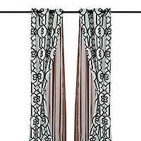 Ophelia Chocolate 6-pc. Curtain Panel Set, 84 in.