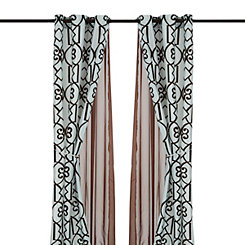Ophelia Chocolate 6-pc. Curtain Panel Set, 84 in.
