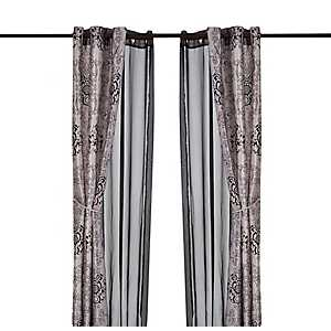Verona Black 6-pc. Curtain Panel Set, 84 in.