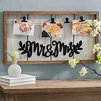 Mr & Mrs Clip Collage Frame
