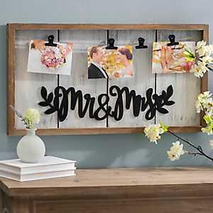 Mr & Mrs Clip Collage Frame